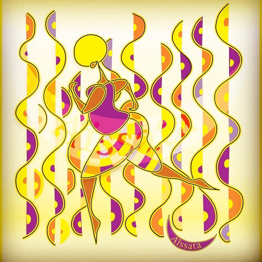 La danse est tout simplement le rythme en mouvement | Oeuvre de Aïssata Pinto