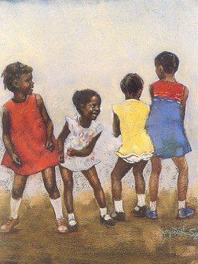 Atizay sou renmen danse timoun | Zèv atis Brenda Joysmith