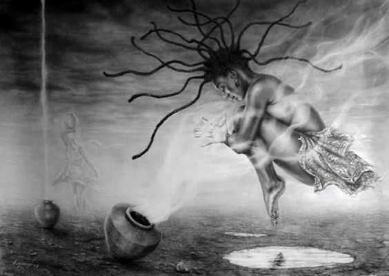 Danse la puissance de révolution du mouvement conscient en quête de soi vers l'équilibre et l'harmonie corps, cœur, tête et âme  | Oeuvre d'art par Nazaregi