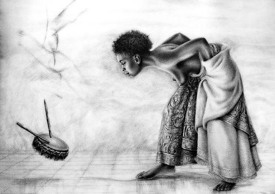 Qu'en est-il de la danse dans les battements de coeur du tambour en vibration avec les battements de coeur de notre âme? | Oeuvre d'art de Réginald Nazaire/NAZAREGI