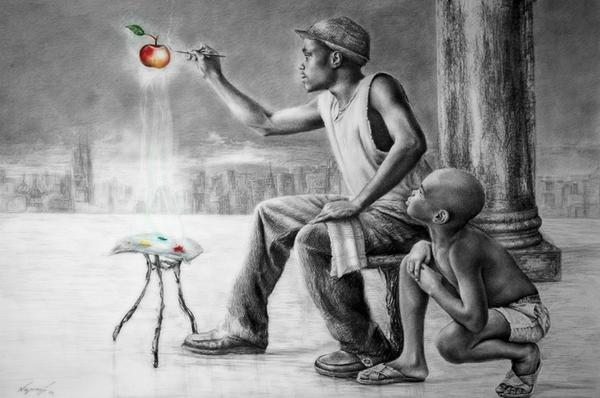 N ap pataje, pi byen konprann epi deplwaye eritaj pwisans konsyans prezans total nou ak maji mouvman nou. | Zèv atis Reginald Nazaire / NAZAREGI