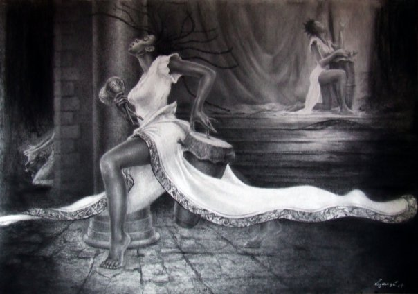 Nous avons encore à atteindre l'excellence et maîtriser la pleine conscience de notre corps, cœur, tête et âme en lien constant dans la danse. |  Oeuvre d'art de Réginald Nazaire / NAZAREGI