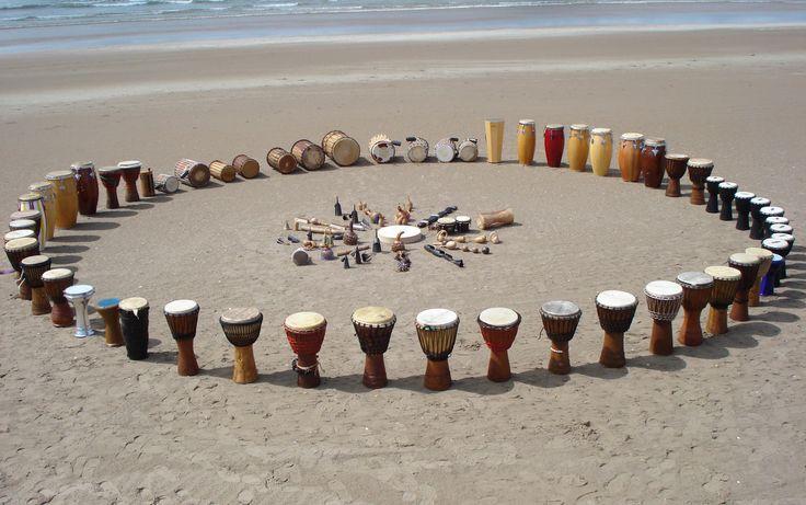 Cercles sacrés en sublime mouvement conscient par le rythme