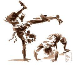 <i>Capoeira, encres - alex illustrateur</i>
