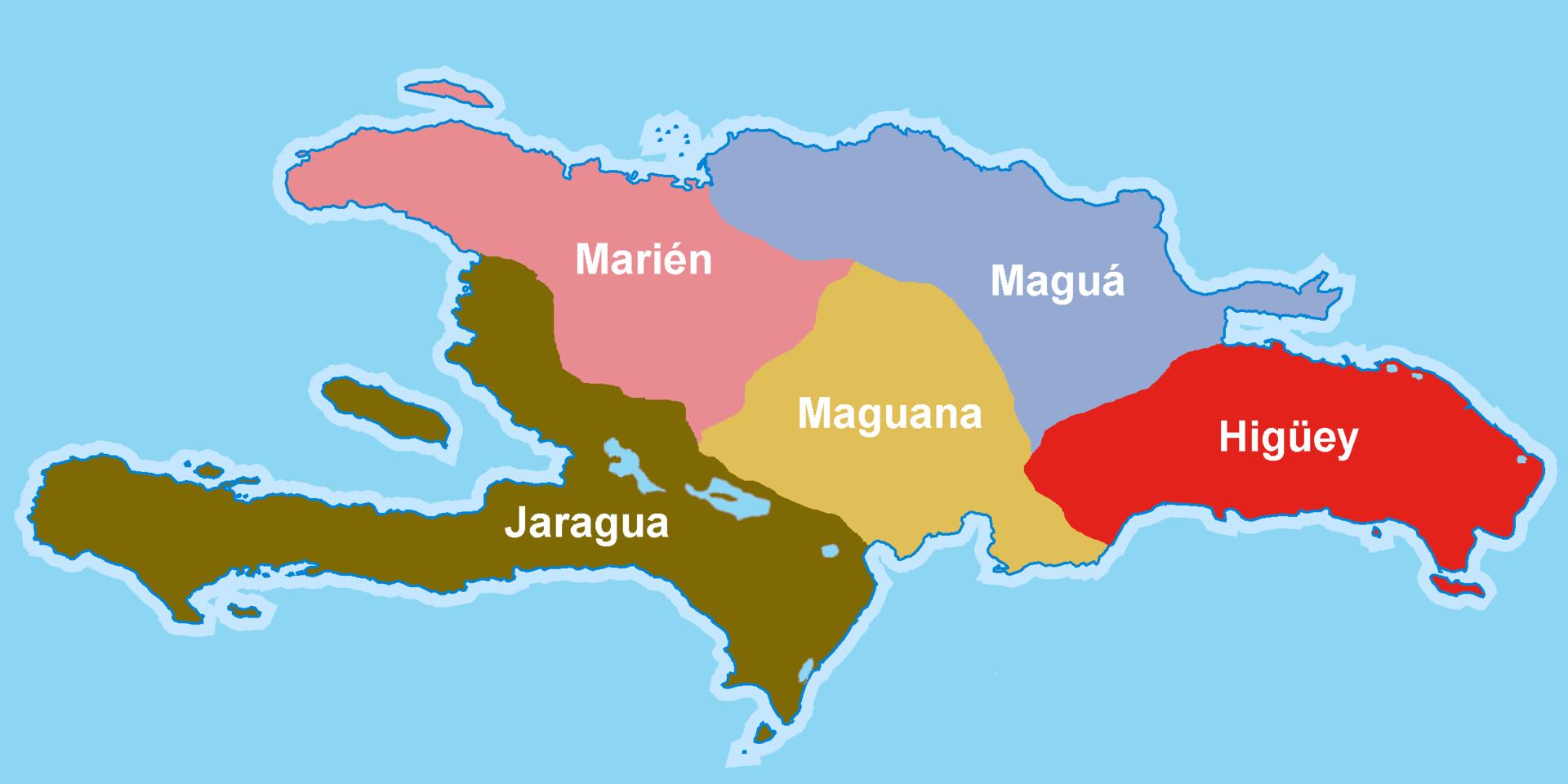 Le fonctionnement de l'île de Kiskeya en Caciques du temps où les indigènes étaient les habitants du territoire.